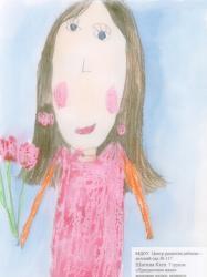 Борисова Даша, 5 лет. Праздничная мама. МДОУ Центр развития ребенка, д/с №117