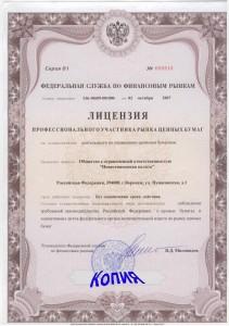 Лицензии Инвестиционной палаты